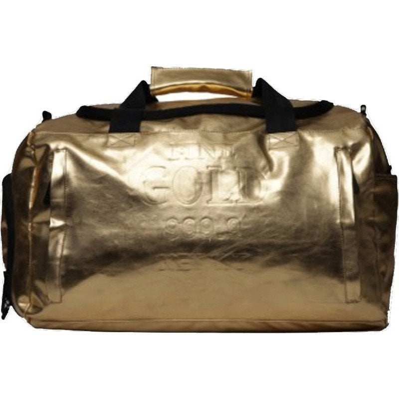 Sprayground Gold Weekender Duffel Bag | Gold Brick