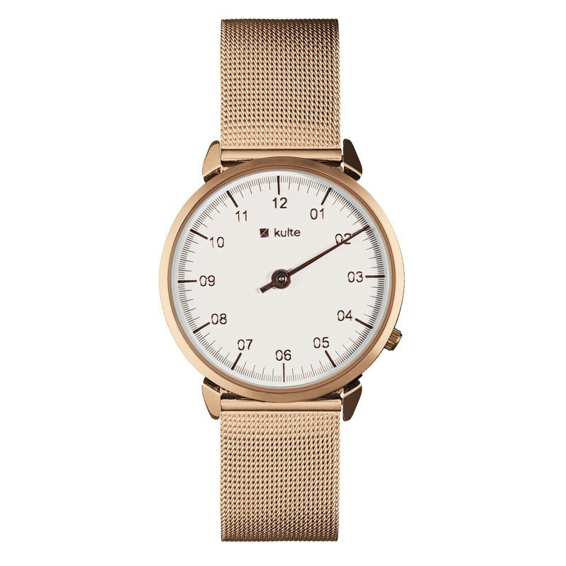 Kulte Golden Age Gold Watch | Gold Mesh KUT8A