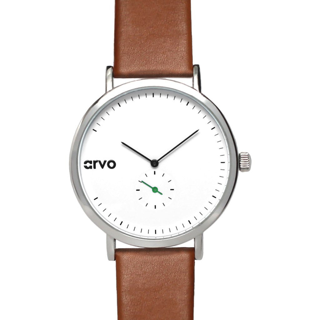 Arvo White Good Samaritime Watch | Silver/Brown/Green GOODG43 43MM