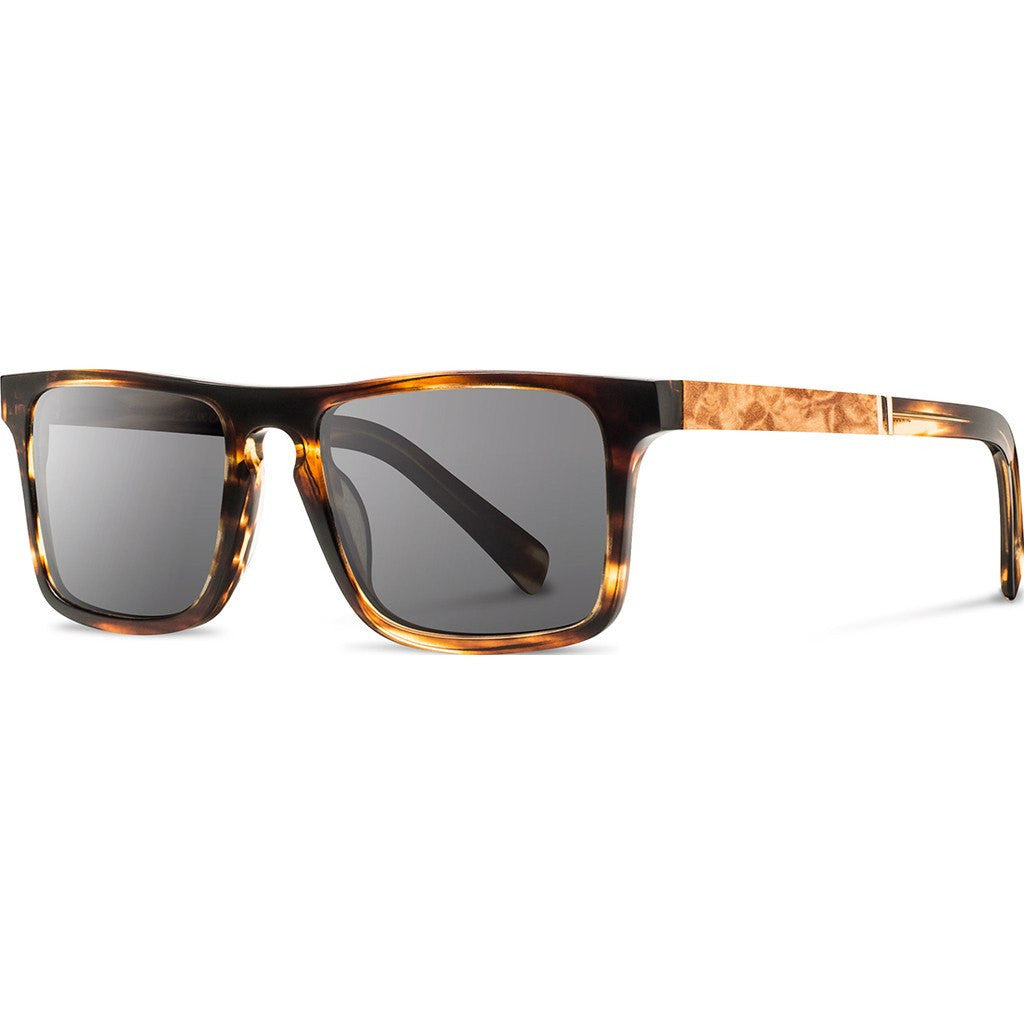 Shwood Govy 2 Acetate Sunglasses | Tortoise & Maple Burl / Grey WAGTMAG