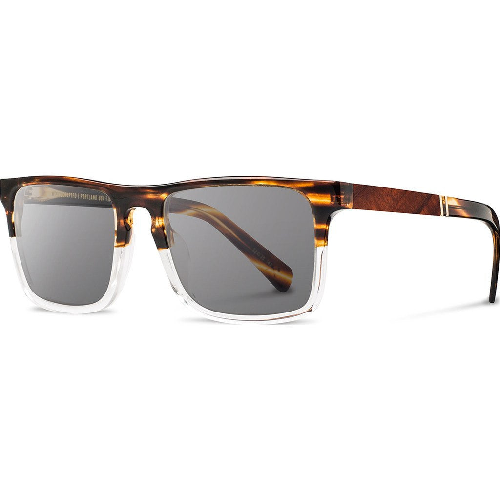 Shwood Govy 2 Acetate Sunglasses | Whiskey Soda & Mahogany Burl / Grey WAGWSMHG