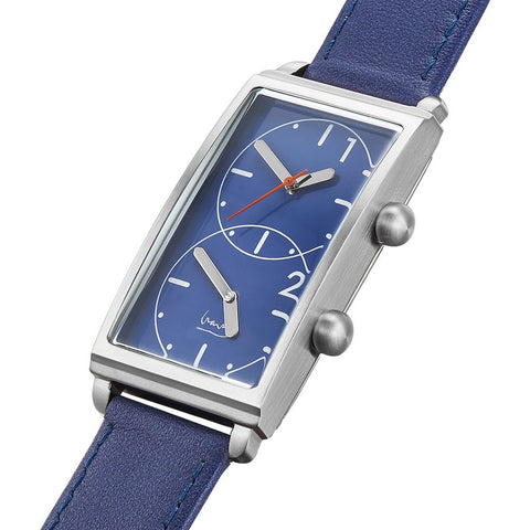 Projects Watches Grand Tour Dual Time Watch | Blue / Blue Band 7612 A