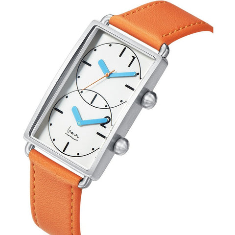 Projects Watches Michael Graves Grand Tour - Dual Time Watch | Burnt Orange