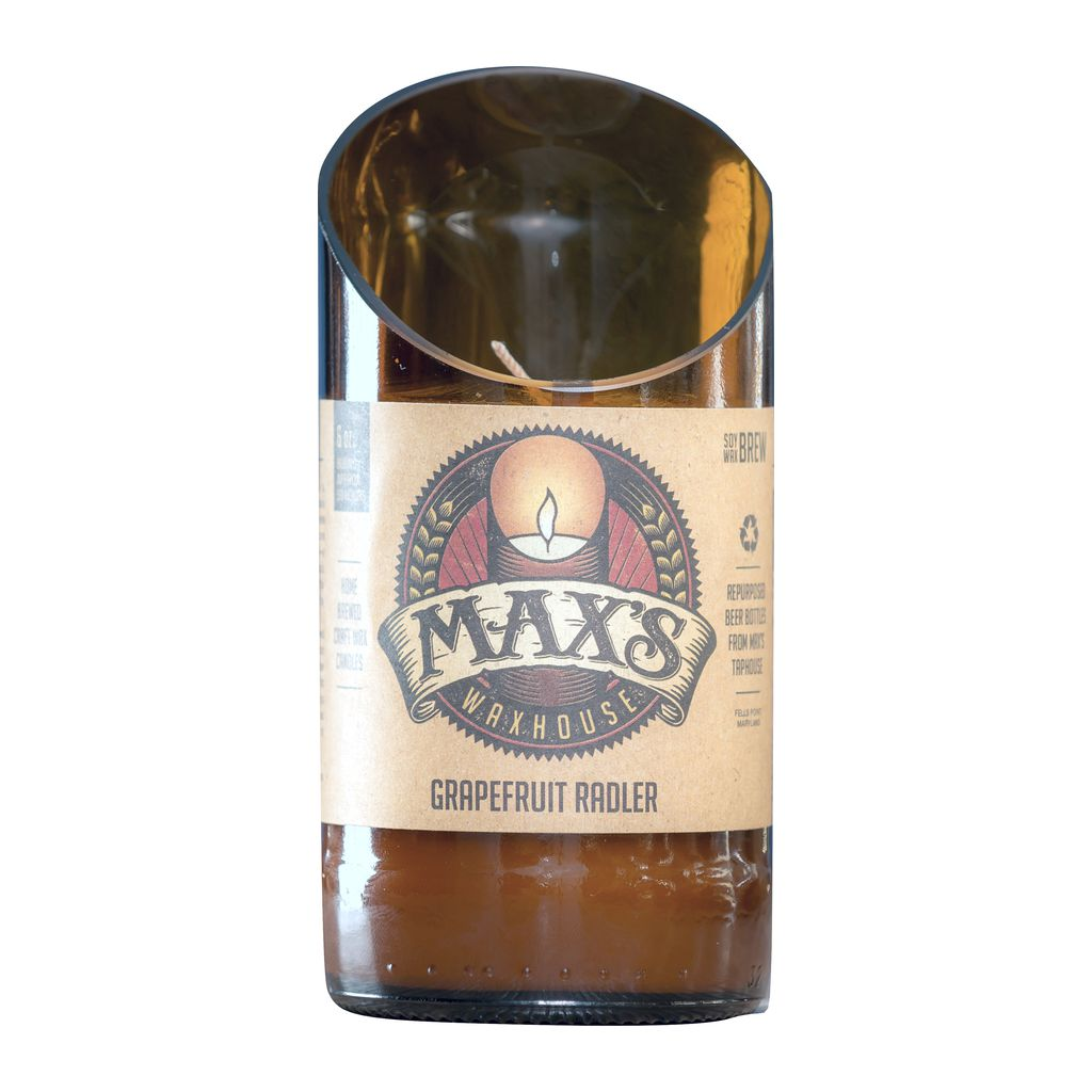 Max's Waxhouse 6oz Beer Bottle Candle | Grapefruit Radler
