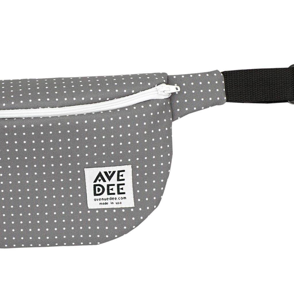 Avenue Dee Fanny Pack | Gray Dots 10089