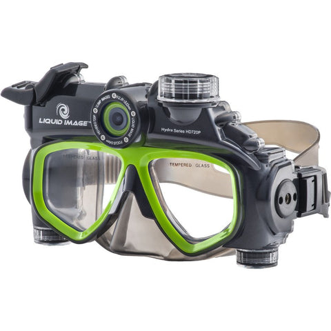 Liquid Image Model 305 720P Hydra Series Dive Mask | Black/Green