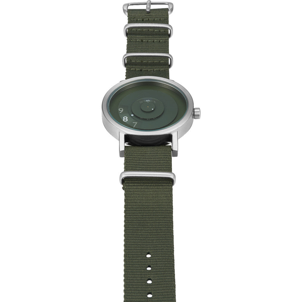 h dial with lrgblackgreen strap black products goose watch saluda watches nato green field