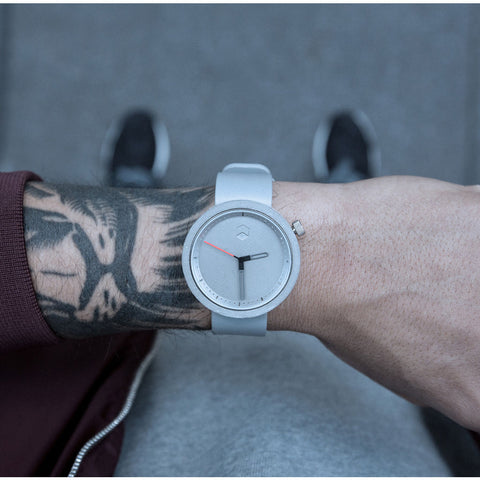 Aggregate Masonic Grey Concrete Watch | Gravel Gray Leather