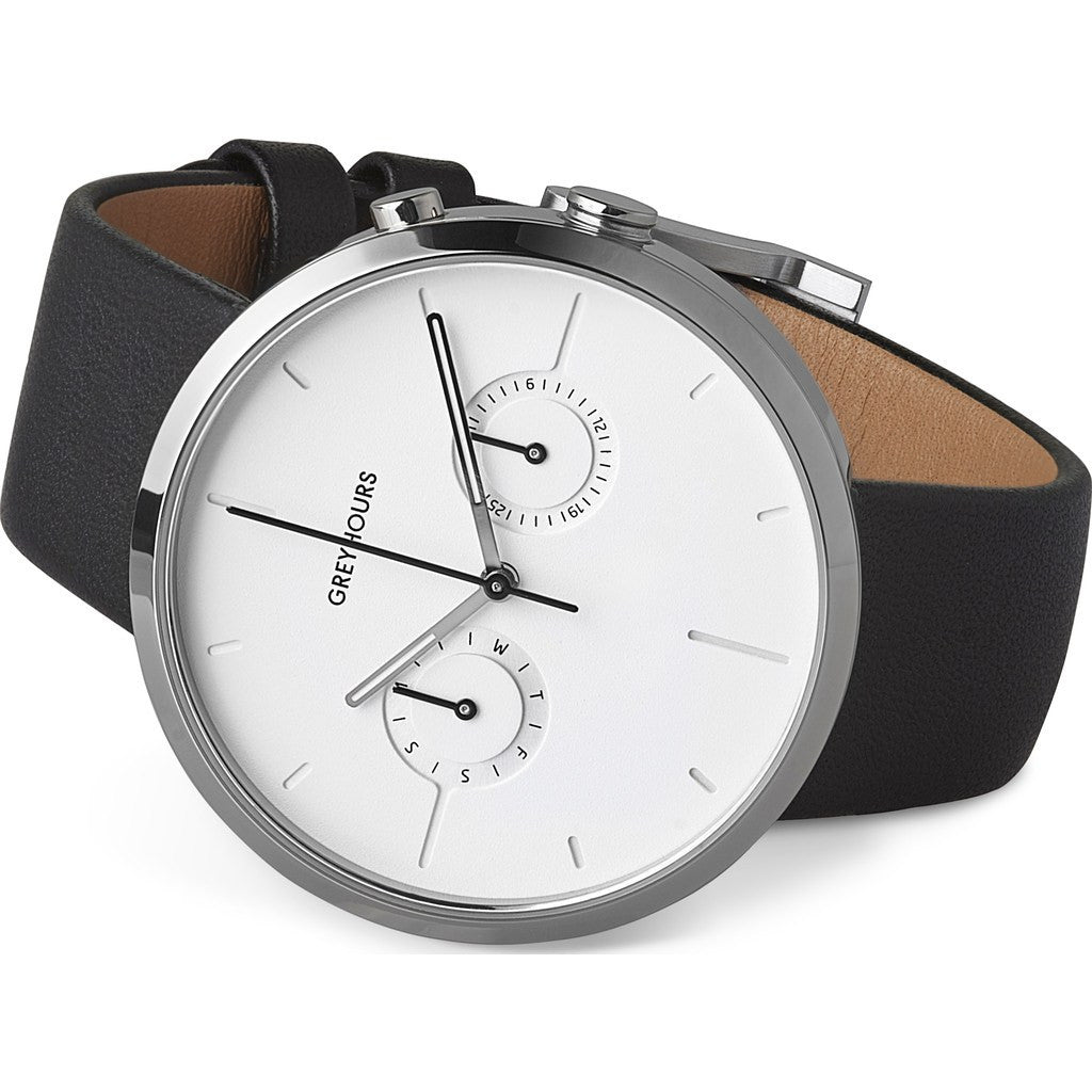 Greyhours Vision Shine Watch | Moon Silver VISIONLIGHT