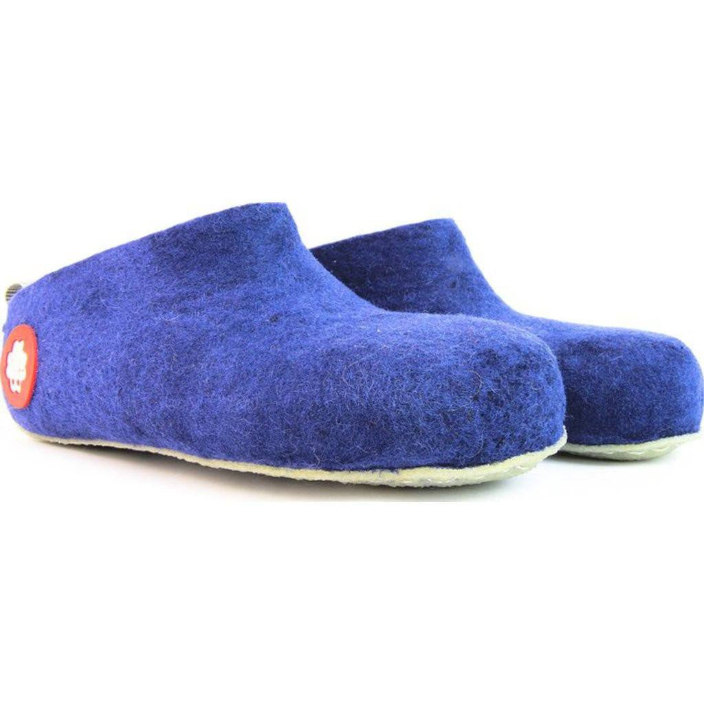 Baabuk Gus Wool Slippers | Royal Blue 36 GUS02-BL1-R-36
