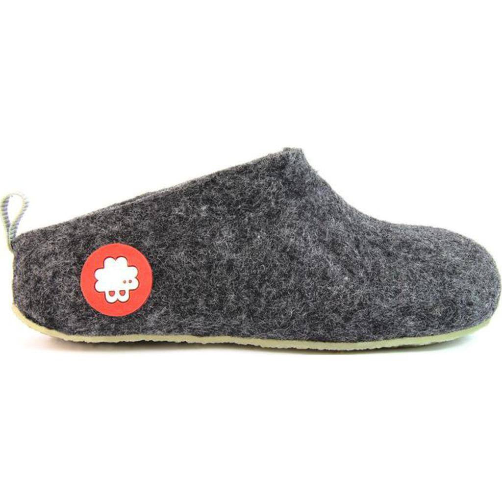 19a3fcc14 ... Baabuk Gus Kid's Wool Slippers | Dark Grey 24 GUS03-DG-R-24 ...