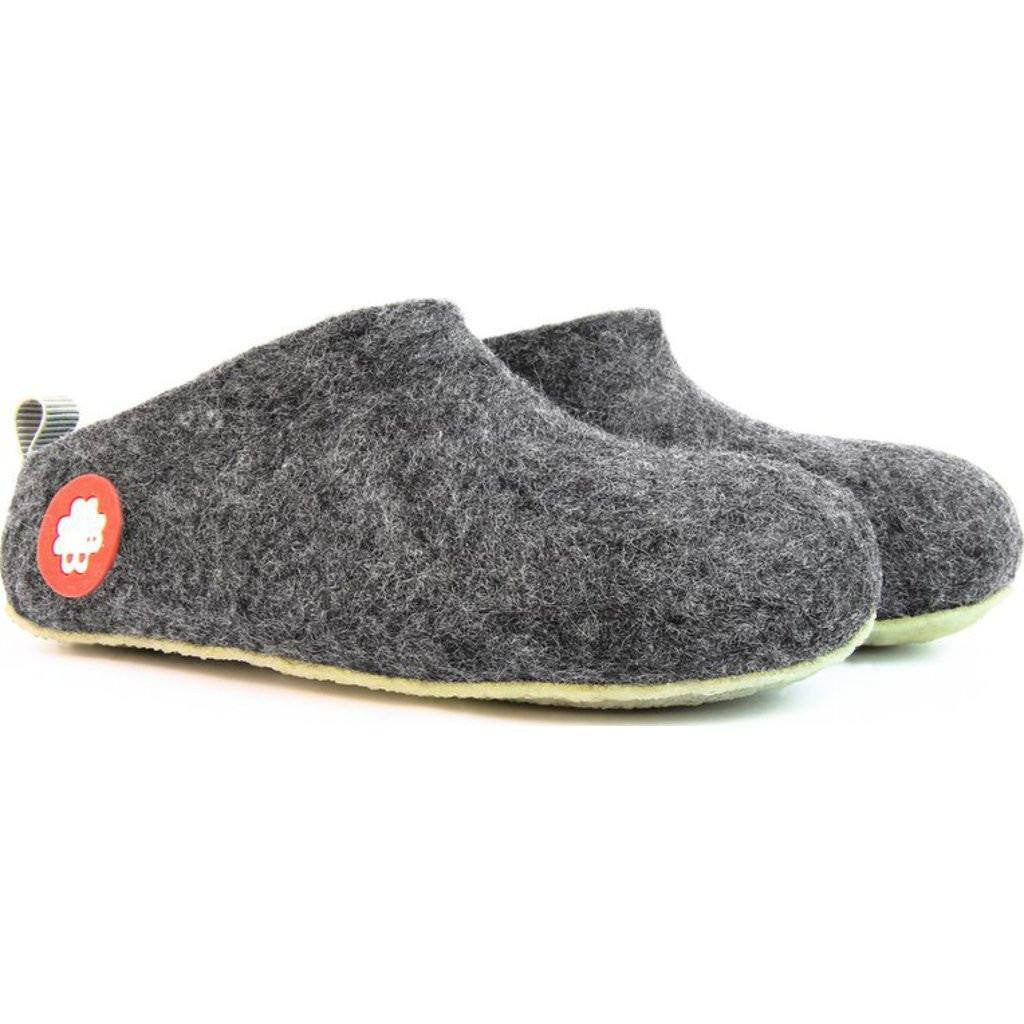 Baabuk Gus Kid's Wool Slippers | Dark Grey 25 GUS03-DG-R-25