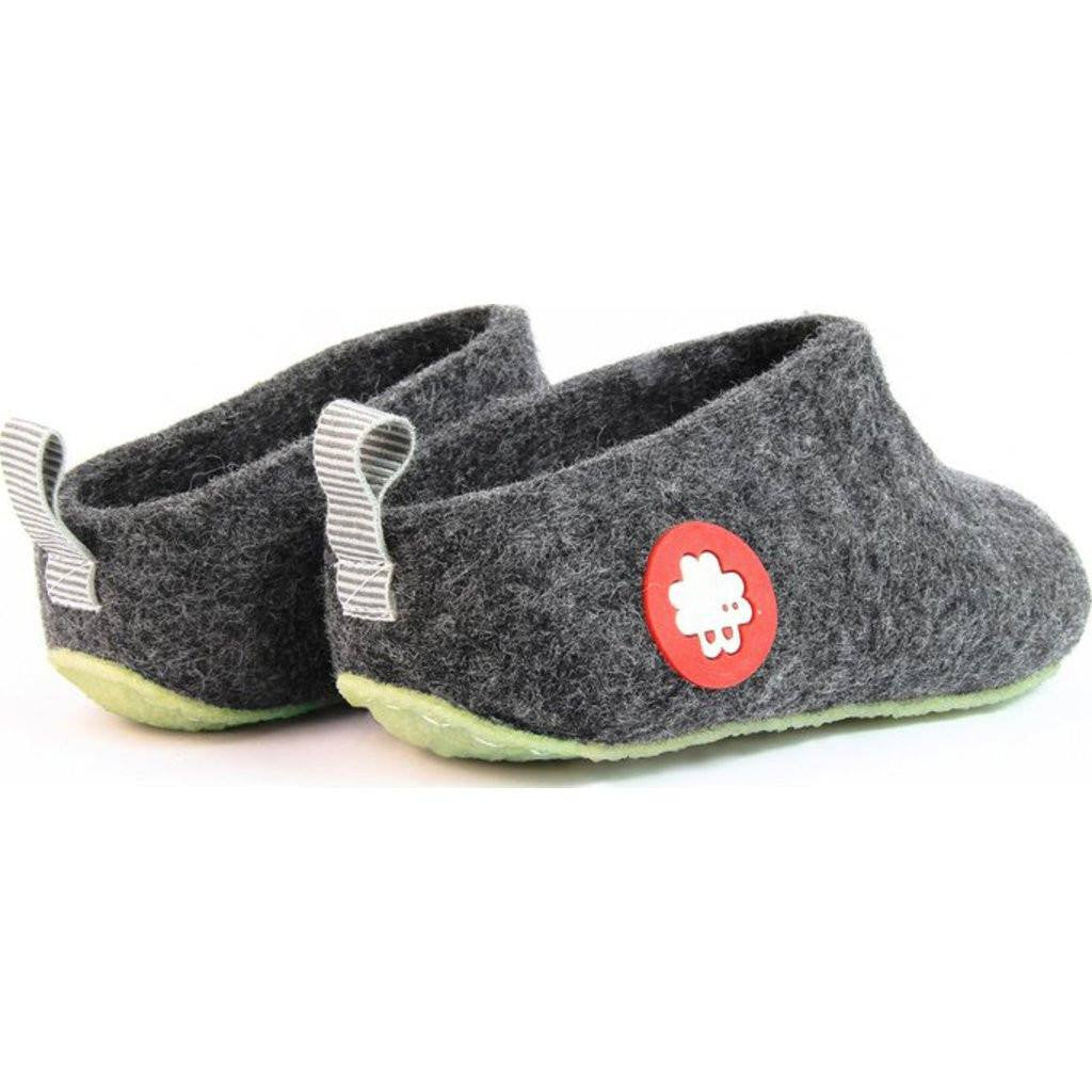 Baabuk Gus Kid's Wool Slippers | Dark Grey 26 GUS03-DG-R-26