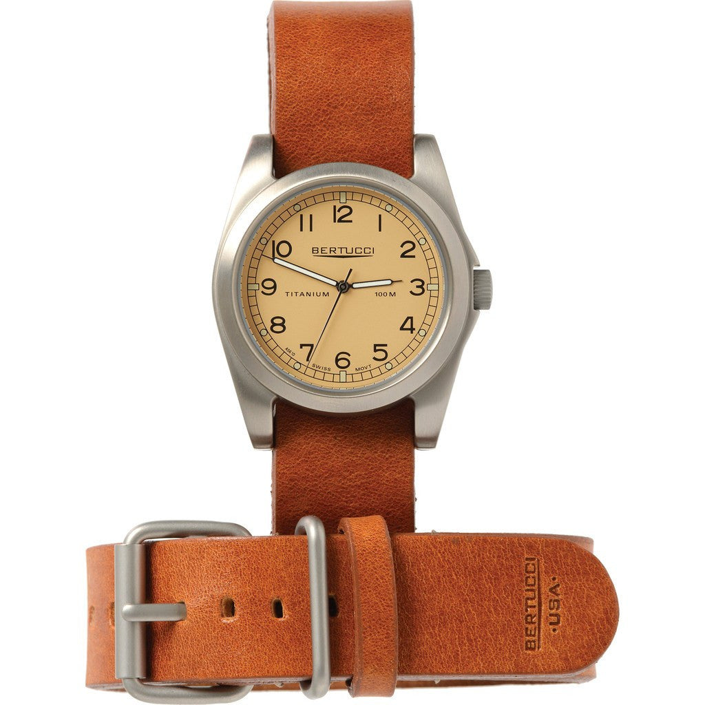 Bertucci Desert Stone Titanium Heritage Watch | Scotch Vegetable Tanned Leather H13314