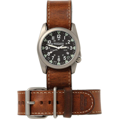 Bertucci A-4T Illuminated Yankee Modern Field Watch | Brown Leather