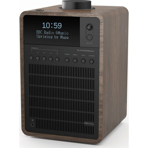 REVO SuperSignal Bluetooth Digital Radio | Walnut/Black