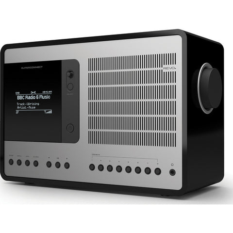 REVO SuperConnect Bluetooth Digital Radio | Matte Black/Silver