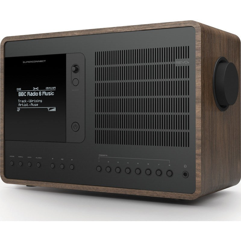 REVO SuperConnect Bluetooth Digital Radio | Walnut/Black