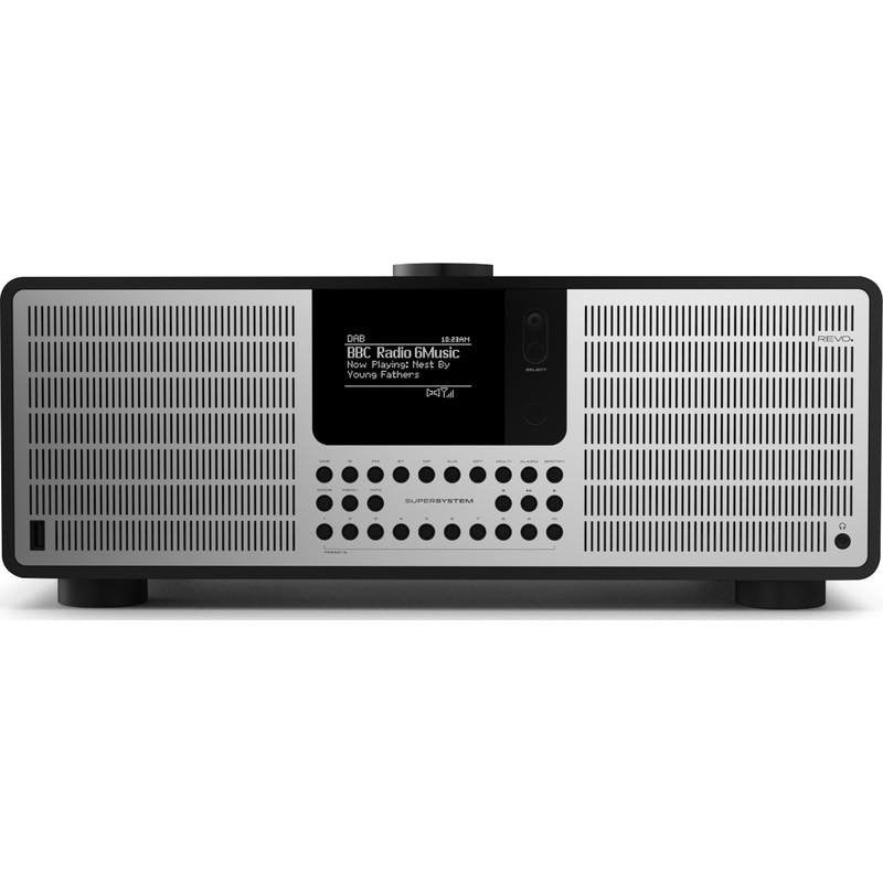 REVO SuperSystem Bluetooth Digital Radio | Matte Black/Silver