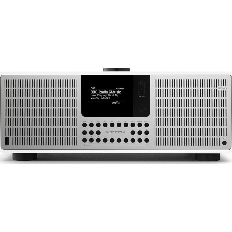 REVO SuperSystem Bluetooth Digital Radio | Matte White/Silver