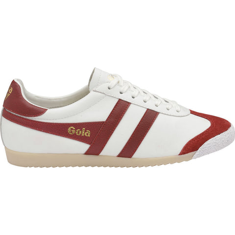 Gola Men's Harrier 50 Leather Sneakers | White/Red