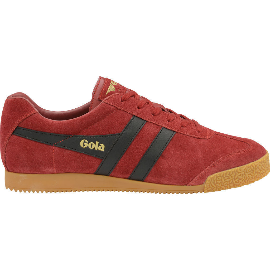 Gola Men's Harrier Suede Sneakers | Deep Red/Black