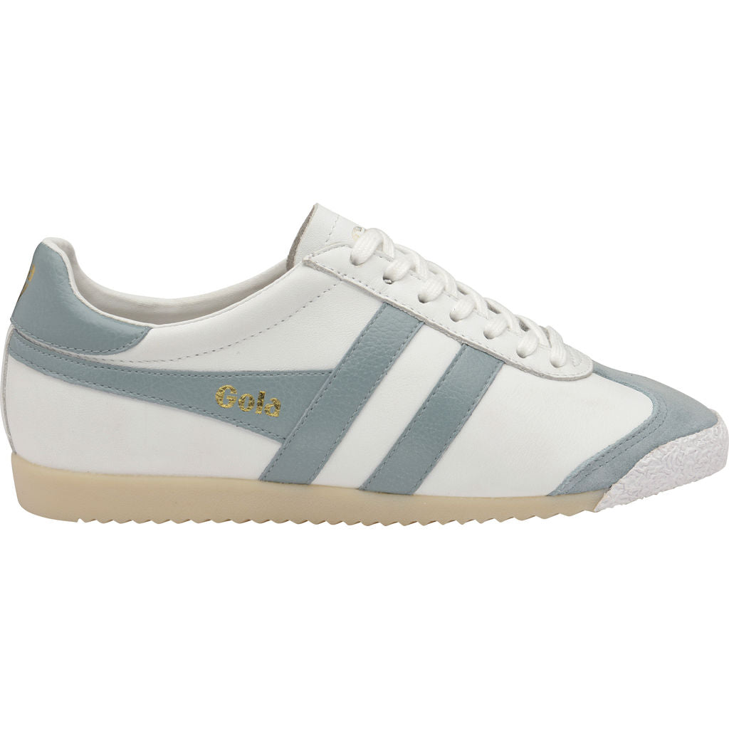Gola Women's Harrier 50 Leather | White/Sky Blue- CLA504XE903 05