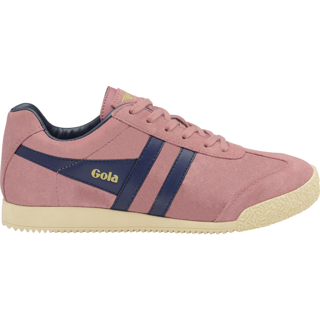 Gola Women's Harrier Suede | Dusty Rose/Navy- CLA192HK904 06
