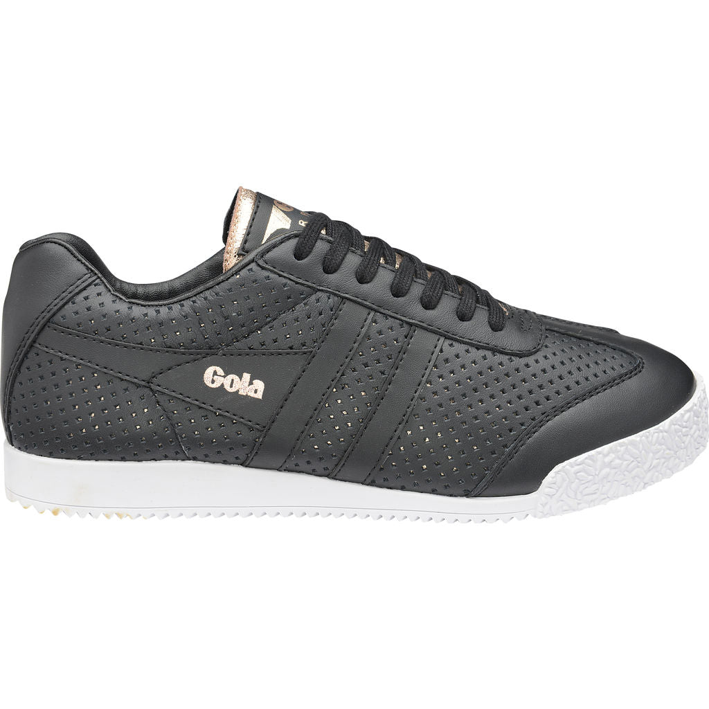 Gola Women's Harrier Glimmer Leather | Black/Rose Gold- CLA193BY904 06