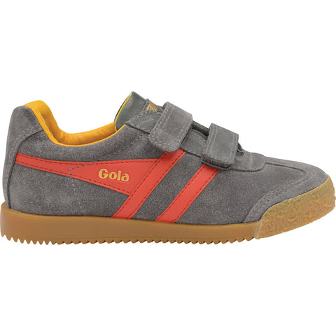 Gola Boy's Harrier Velcro | Graphite/Red/Sun- CKA192GR912 13