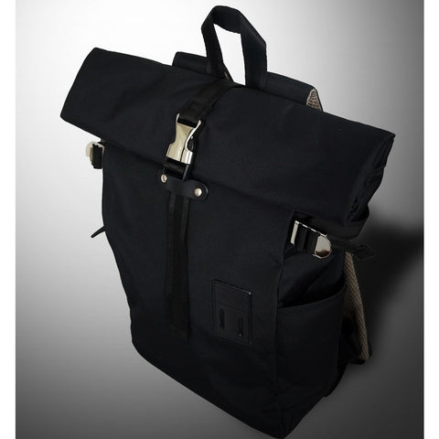 Harvest Label Rolltop Backpack 2.0 | Black HFC-9004-BLK