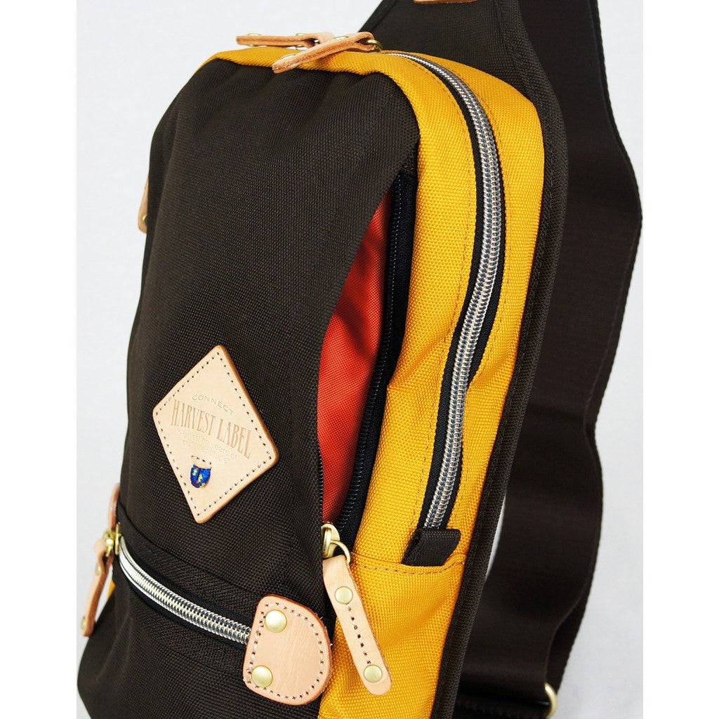 Harvest Label Two-Tone Sling Pack | Brown/Mustard HFC-9006-BRN