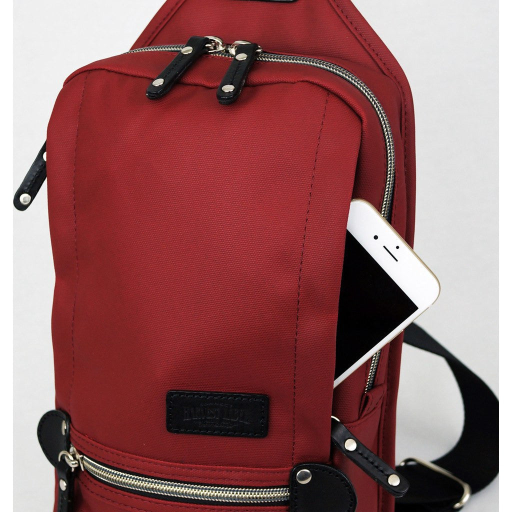 It is a picture of Impertinent Harvest Label Cordura Sling Pack