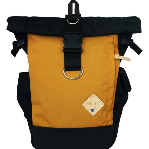 Harvest Label Classic Rolltop Backpack | Mustard HFC-9003-MUS