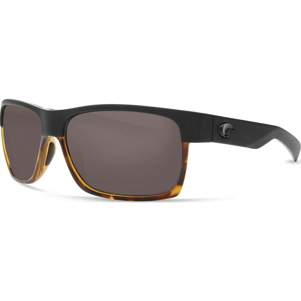 Costa Half Moon Matte Black/Shiny Tortoise Sunglasses | Gray 580P