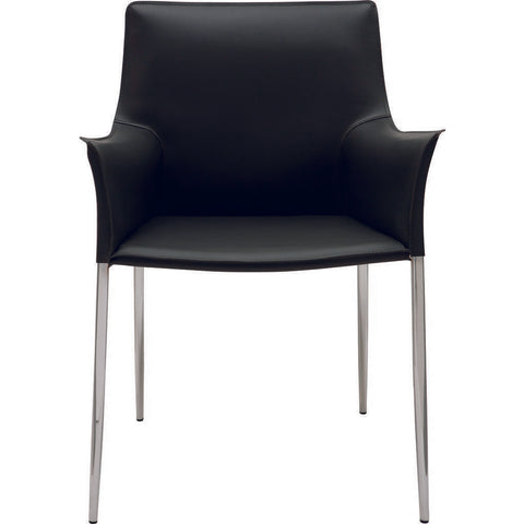 Nuevo Colter Dining Chair | Black Leather