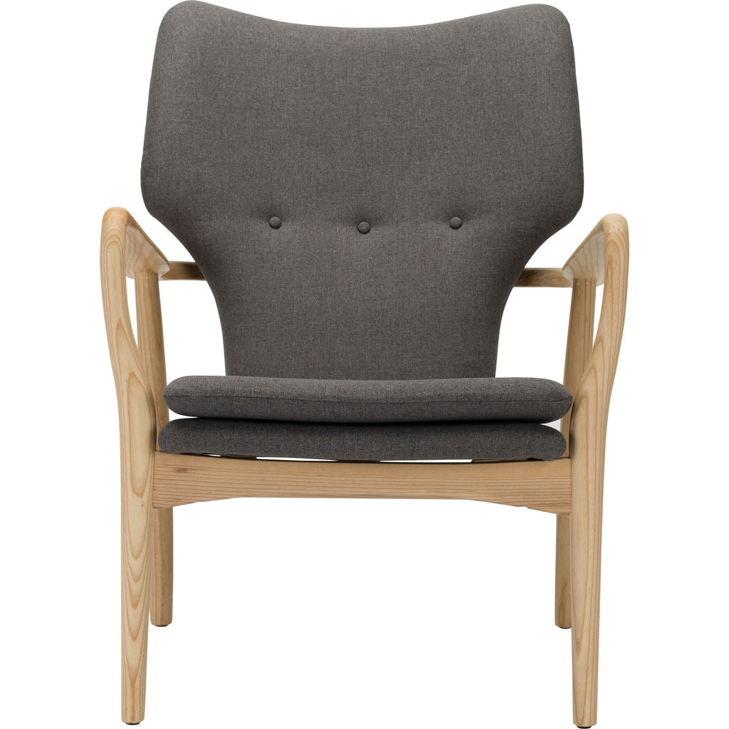 ... Nuevo Living Patrik Lounge Chair | Grey Polyester/Ash ...