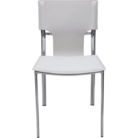 Nuevo Living Lisbon Dining Chair | White Leather