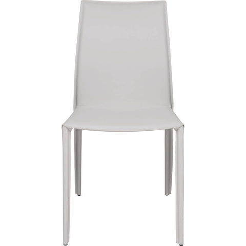 Nuevo Living Sienna Dining Chair | White Leather