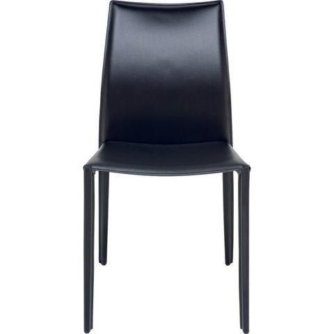 Nuevo Living Sienna Dining Chair | Black Leather
