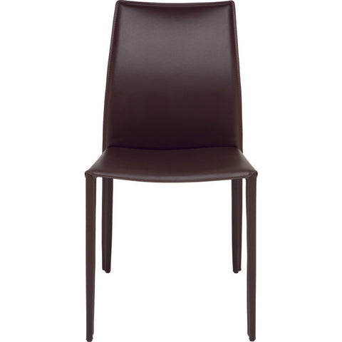 Nuevo Living Sienna Dining Chair | Brown Leather