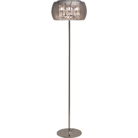Nuevo Living Alain Lighting Floor Lamp | Silver Glass