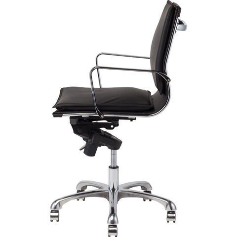 Nuevo Living Carlo Office Chair | Black Leather