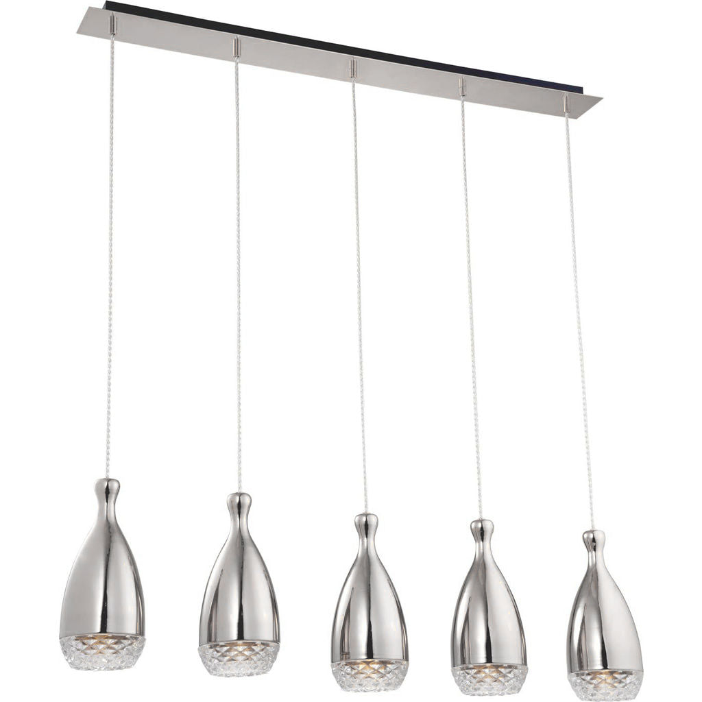 Nuevo Citrine 5 Lighting | Clear Glass
