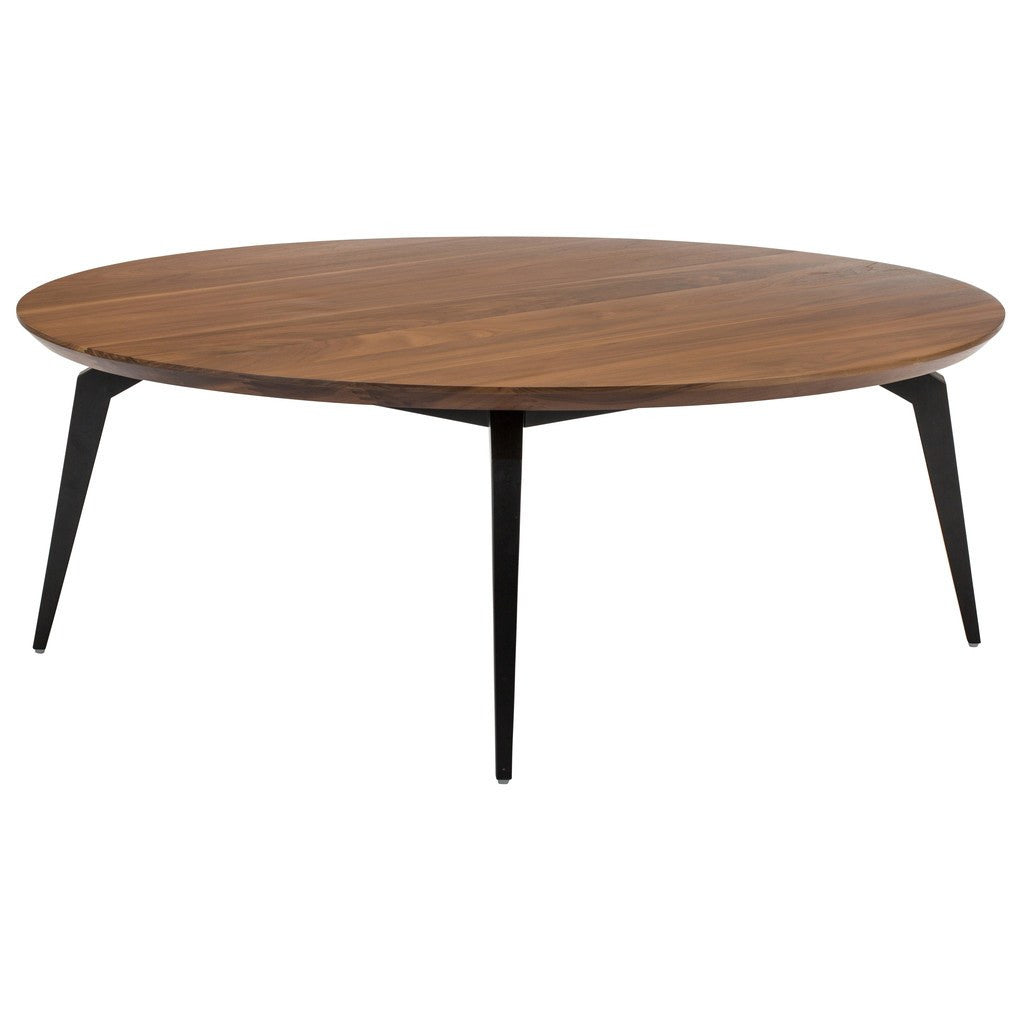 Genial ... Nuevo Living Tapered Round Coffee Table | Walnut / Matte Black HGNA207  ...