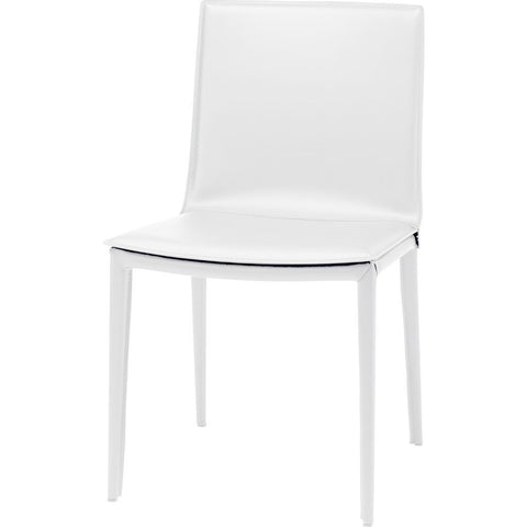 Nuevo Palma Dining Chair | White Leather