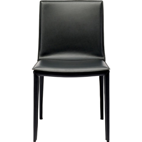 Nuevo Palma Dining Chair | Black Leather