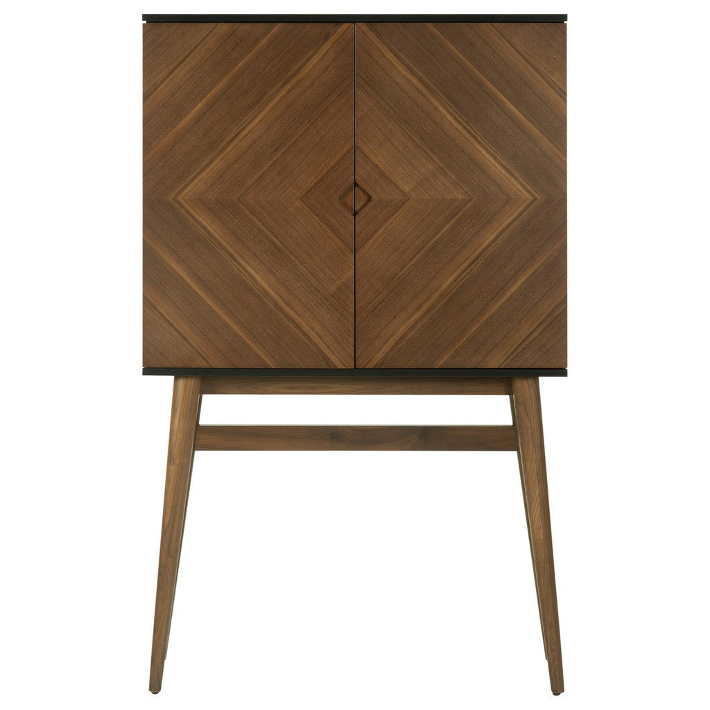 Nuevo Living Vivian Bar Cabinet | Black / Walnut HGPM114 ...