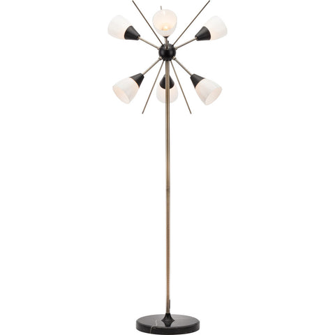 Nuevo Living Claire Lighting Floor Lamp | White Glass