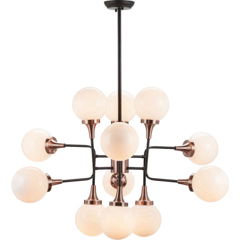 Nuevo Living Bella Lighting | Copper White Glass